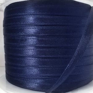 Double Faced Satin Ribbon Navy 200m - William Gee