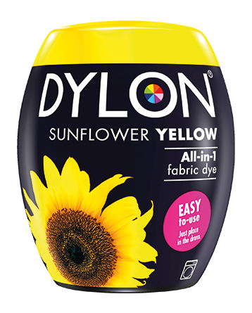 Dylon Fabric Dye Machine Pods - Sunflower Yellow - William Gee