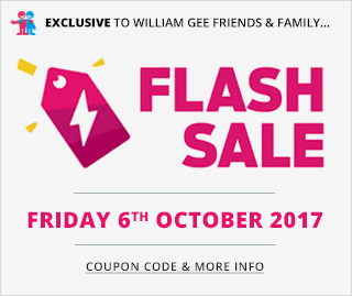 October 6 Flash Sale - William Gee