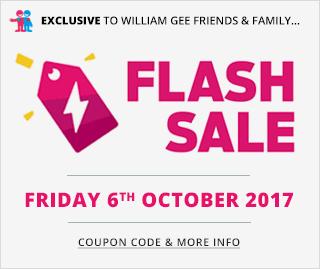October 6 Flash Sale - William Gee