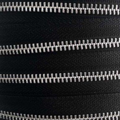 YKK Metal Zip Chain No 5 Black - William Gee