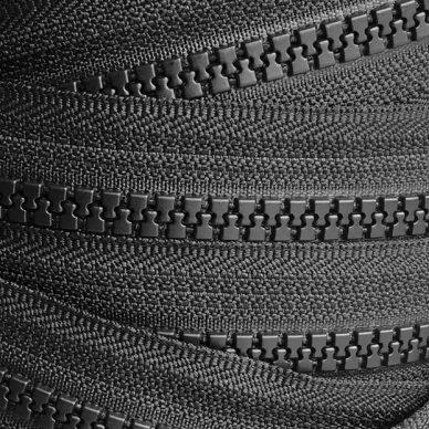 YKK Plastic Vislon No 5 Zip Chain in Black - William Gee