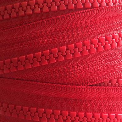 YKK Plastic Vislon No 5 Zip Chain in Red 519 - William Gee