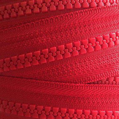 YKK Plastic Vislon No 5 Zip Chain in Red 519 - William Gee