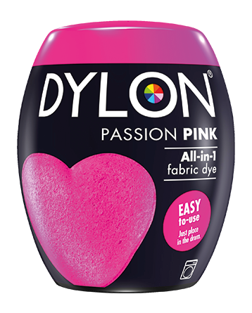 Dylon Fabric Dye Machine Pods - Passion Pink - William Gee