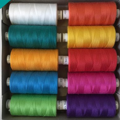 Pot Luck Moon 120 Sewing Threads - Tropical Colours - William Gee Haberdashery