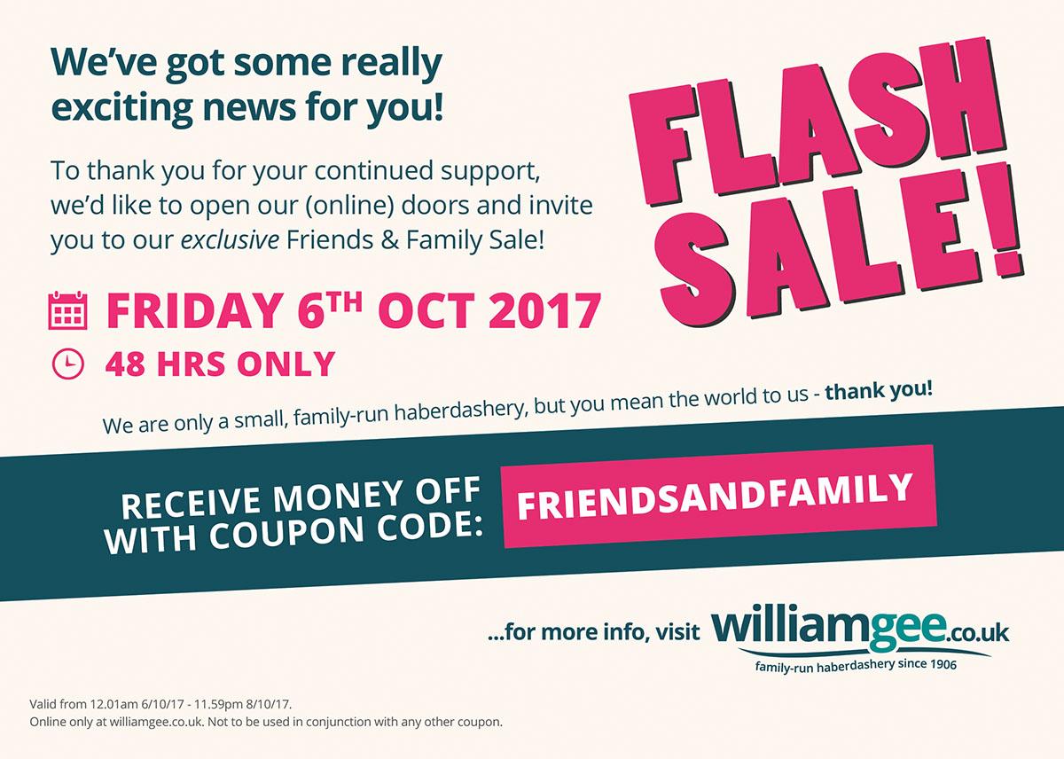 William Gee - Flash Sale October 2017