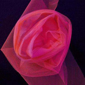 Nylon Dress Net in Fluorescent Cerise