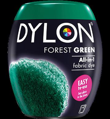 Dylon Fabric Dye Machine Pods - Forest Green - William Gee