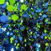 Glitter Fabric in Blue Green GLJ30 - William Gee