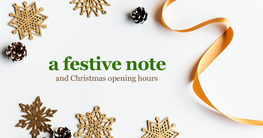A festive note from William Gee
