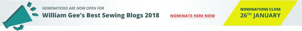 Nominate Sewing Blogs 2018 - William Gee