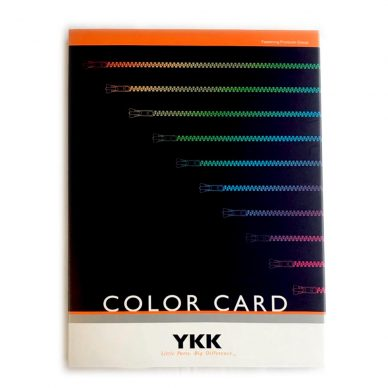 YKK Colour Shade Card - William Gee