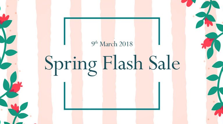 The Spring 2018 Flash Sale Weekend – LIVE NOW