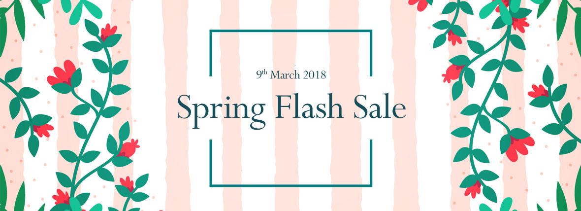 spring flash sale 2018