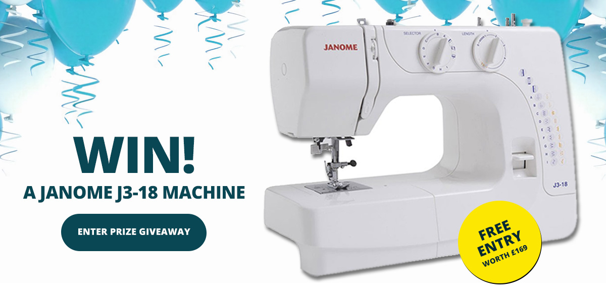 Win the Janome Sewing Machine Giveaway by William Gee