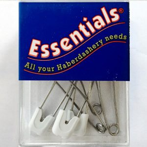 White Nappy Pins box of 6 - William Gee