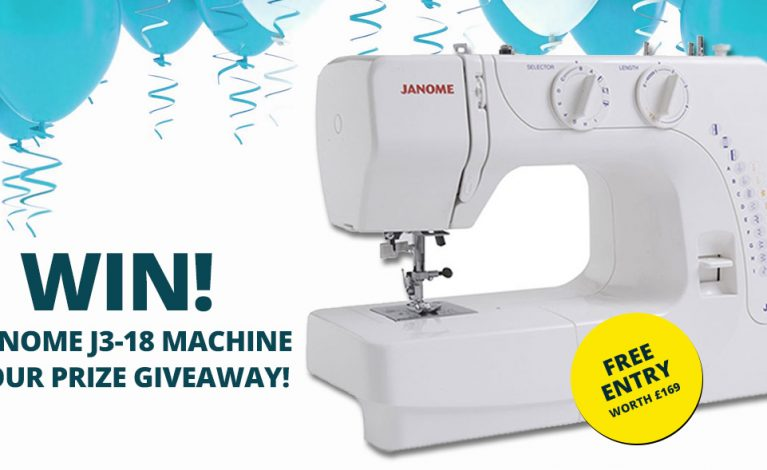 PRIZE GIVEAWAY…Win a Janome J3-18 Sewing Machine!