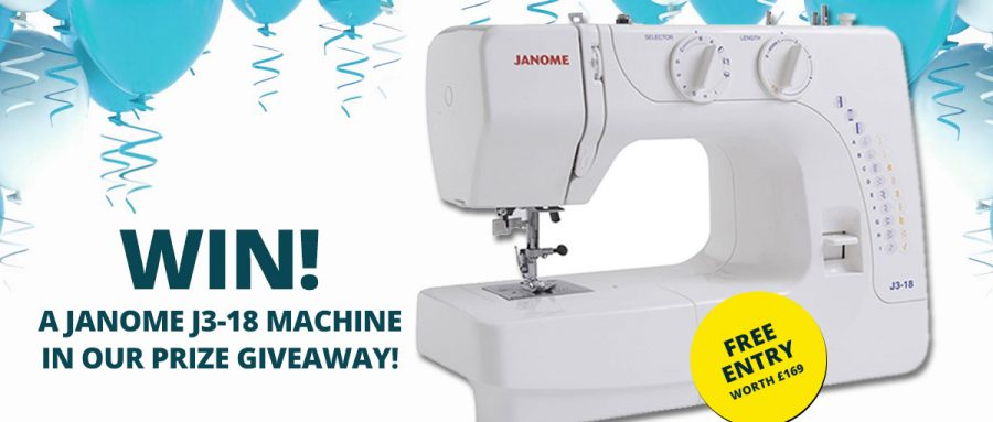 Win a Janome J3-18 Sewing Machine - William Gee UK