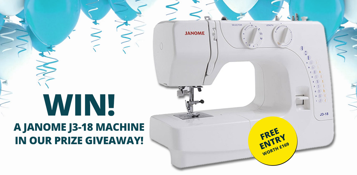 Win a Janome J3-18 Sewing Machine - William Gee UK