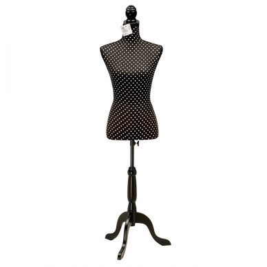 Prym Deco Dress Form Polka Dots Black and White 610083 - William Gee