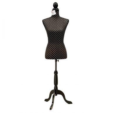Prym Deco Dress Form Polka Dots Black and White 610083 - William Gee