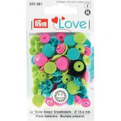 Prym Colour Snaps Love Edition 393081 - William Gee UK