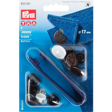 Prym Jeans Buttons 17mm 622241 - William Gee UK