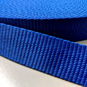 Polypropylene Webbing 25mm in Blue - William Gee UK