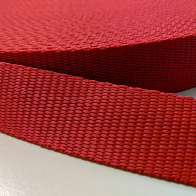 Polypropylene Webbing 25mm in Red - William Gee Uk