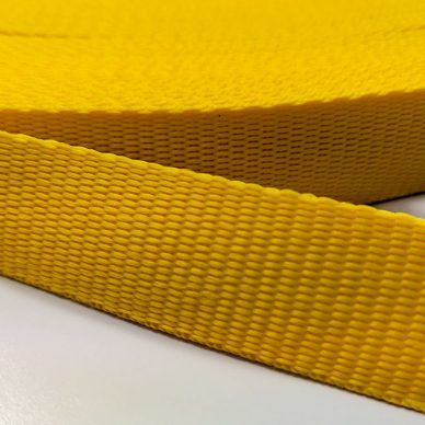 Polypropylene Webbing 25mm in Yellow - William Gee Uk