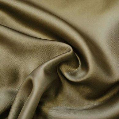 Viscose Twill Lining in colour kHAKI - William Gee UK