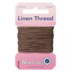 Hemline Linen Thread - Brown - William Gee UK