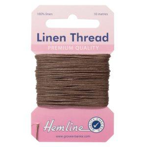 Hemline Linen Thread - Brown - William Gee UK
