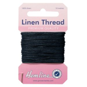 Hemline Linen Thread - Navy - William Gee UK