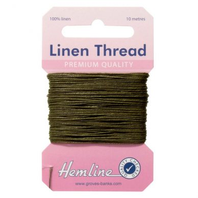 Hemline Linen Thread - Olive Green - William Gee UK