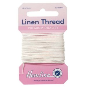 Hemline Linen Thread - White - William Gee Online