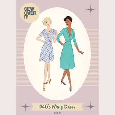 1940's Wrap Dress Pattern - William Gee UK