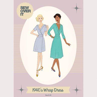 1940's Wrap Dress Pattern - William Gee UK