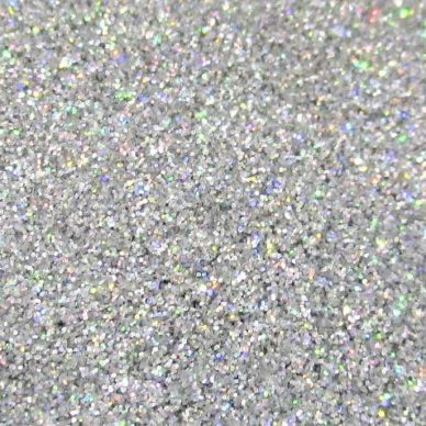Glitter Fabric in Holographic Silver GLJ64 - William Gee UK