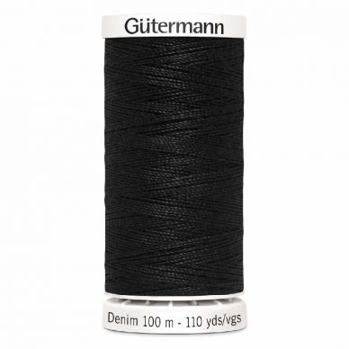 Gutermann Denim Thread Tkt 50 Black - William Gee UK