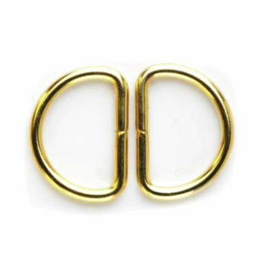 Gold D-Rings 25mm - William Gee UK