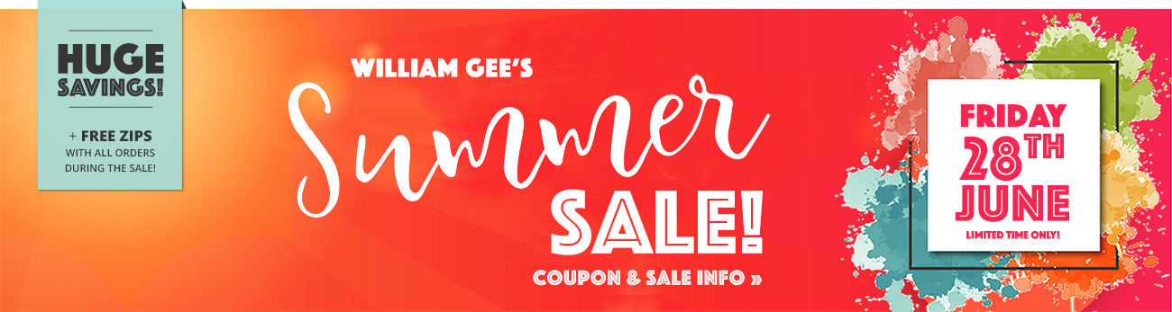 William Gee Summer Sale 2019