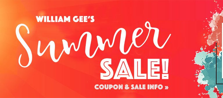 William Gee's Summer Sale 2019