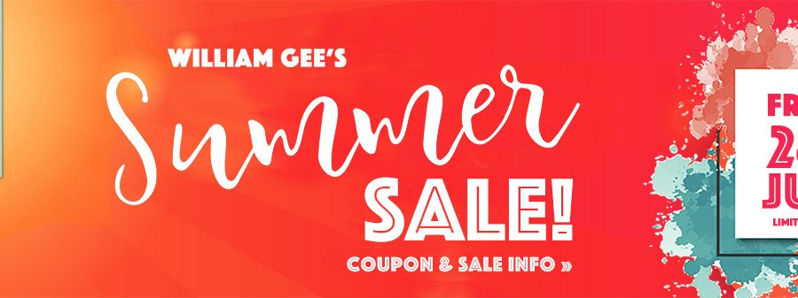 William Gee Summer Sale 2019