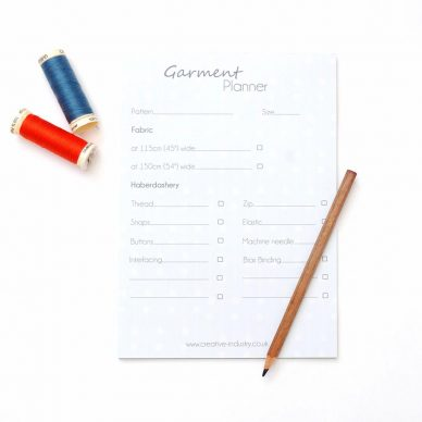 Garment Planner Notepad - William Gee UK