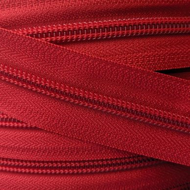 YKK Nylon Number 5 Zip Chain in Red - William Gee UK