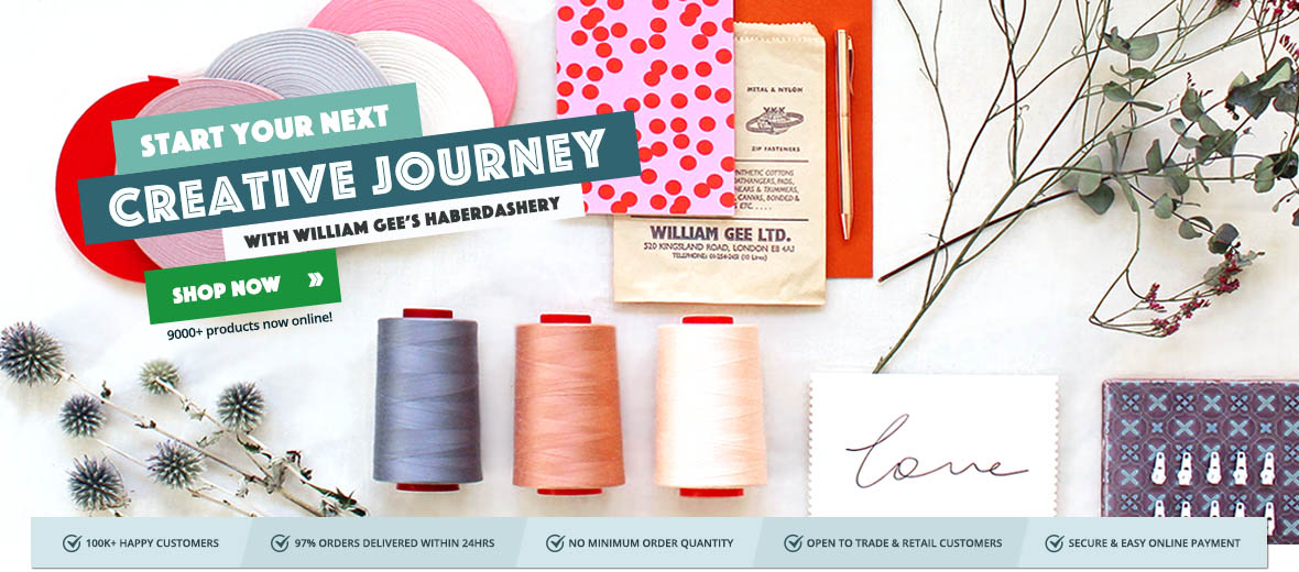 Shop your favourite sewing supplies, haberdashery and tailor's trimmings with William Gee UK