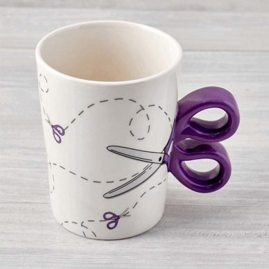 Scissors Mug Purple - William Gee
