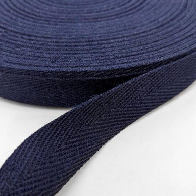 Cotton Webbing 20mm Navy - William Gee UK
